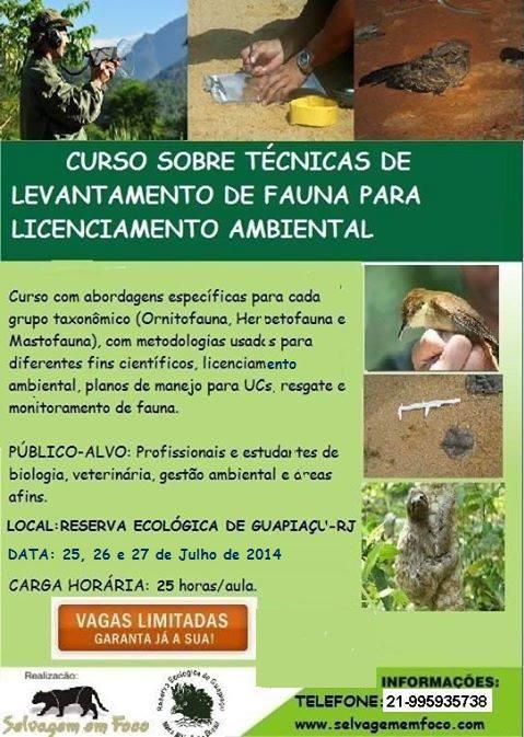 Curso Monitoramento de Fauna